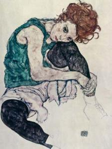 Egon Schiele  -donna seduta 1917