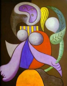 Woman with a flower- picasso