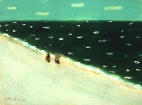 1958 Milton Avery -  Green Sea