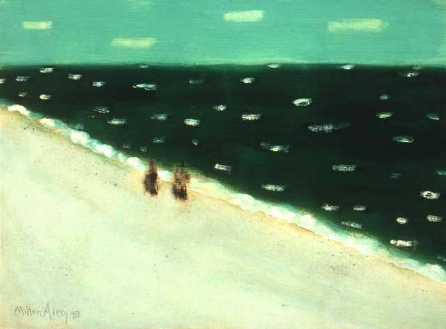 1958 Milton Avery -  Green Sea